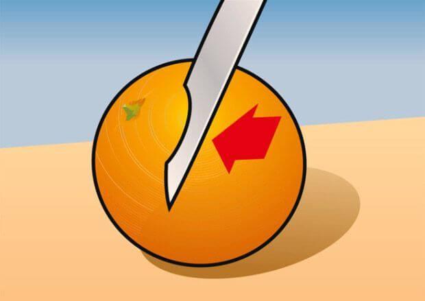 Найпростіший спосіб очистити апельсин