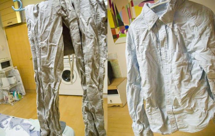 Як позбутися складок на одязі